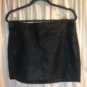 Black Express Mini-Skirt